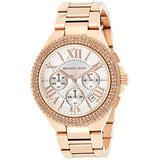 Michael Kors MK5636 Women's Chronograph Camille Rose Gold-Tone Stainless Steel Bracelet Watch