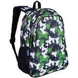 Wildkin 15 Inch Kids Backpack for Boys & Girls, 600-Denier Polyester Backpack for Kids, Features Padded Back & Adjustable Strap, Perfect Size for School & Travel Backpacks, BPA-free (Green Camo)