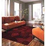 Momeni Rugs Delhi Collection 100% Wool Hand Carved & Hand Tufted Contemporary Area Rug, 8' x 10', Red