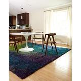 Loloi Barcelona Collection Bright Shag Area Rug, 5' x 8', Blue