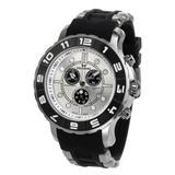 Aquaswiss Rugged Men's Rugged Quartz Chronograph Black Rubber Strap 96XG004