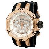 Invicta Men's 10832 Venom Reserve Swiss Chronograph White Textured Dial Black Polyurethane Band Watch
