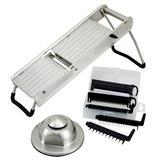Winco MDL-15 Mandoline Slicer Set w/ Hand Guard - (5) Interchangeable Blades, Stainless Steel