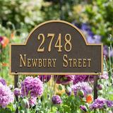 Arched Address Lawn Plaque - Black/White - Grandin Road