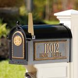 Seranto Monogrammed Mailbox - Black - Grandin Road