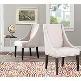 Safavieh Mercer Collection Austin Grey Linen Sloping Arm Chair, Set of 2