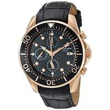 Rudiger Men's R2001-09-007L Chemnitz Rose and Black Chronograph Watch
