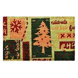 "Christmas Menagerie Doormat, 17"" x 29"", Multicolor"