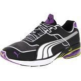 PUMA Men's Toori Run Y Running Shoe, Black/White/Purple, 11.5 M US