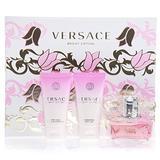 Versace Versace Bright Crystal Women Giftset (Eau De Toilette Spray, Perfumed Bath and Shower Gel, Shimmering Body Gel)