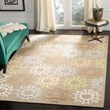 Martha Stewart Rugs Block Quilt Geometric Handmade Tufted Cotton Opal/Area Rug Cotton in Gray, Size 0.5 D in | Wayfair MSR1843H-6