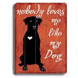 Artehouse LLC Nobody Loves Me Planked by Kate Ward Thacker Graphic Art Plaque Wood in Black/Brown, Size 20.0 H x 14.0 W x 0.875 D in   Wayfair