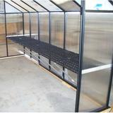 Riverstone Industries Greenhouse Work Bench System Shelving, Size 12' W | Wayfair MONT-12-WB
