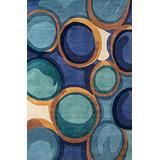 """Momeni Rugs New Wave Collection, 100% Wool Hand Carved & Tufted Contemporary Area Rug, 3'6"""" x 5'6"""", Blue"""