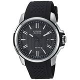 Citizen Eco-Drive Weekender Quartz Mens Watch, Stainless Steel with Polyurethane strap, Black (Model: AW1150-07E)