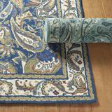 """Abby Hand Hooked Rug Blue 2'6"""" x 4'2"""" - Ballard Designs"""