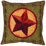 Manual Western Décor Collection Throw Pillow, 17 X 17-Inch, Western Star