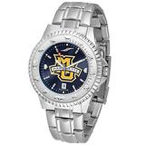 SunTime Marquette Golden Eagles Competitor AnoChrome Men's Watch with Steel Band