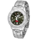 SunTime Cincinnati Bearcats Competitor AnoChrome Men's Watch with Steel Band