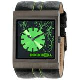 Rockwell Time Unisex MC109 Mercedes Black Leather Green Accents Watch