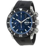 Edox Men's 01114 3 BUIN Class 1 Automatic Chronograph Blue Dial Rubber Watch