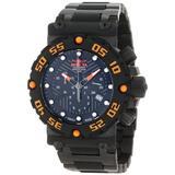 Invicta 10047 Mens Stainless Steel Subaqua Nitro Chronograph Quartz Black Dial Rubber Strap Watch