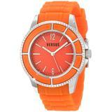 Versus Men's 3C61200000 Tokyo Orange Dial Rubber Watch