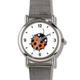 Lady Bug or Lady Bird No.1 - Ladybug - JP Animal - WATCHBUDDY Elite Chrome-Plated Metal Alloy Watch with Metal Mesh Strap-Size-Large (Men's Size or Jumbo Women's Size)