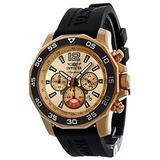 Invicta Signature II Chronograph Nautical Rose Gold-tone Dial Black Rubber Mens Watch 7432