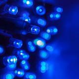 70 5mm Blue LED Christmas Lights, 24' Blue Christmas Lights Blue Holiday Lights Christmas String Lights Outdoor Christmas String Lights Mini Lights Wide Angle Light Set