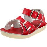Salt Water Sandals by Hoy Shoe 1400-1404,Red,7 M US Toddler