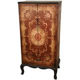Oriental Furniture Olde-Worlde European Two Door Cabinet