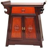 Oriental Furniture Rosewood Altar Cabinet - Two-tone