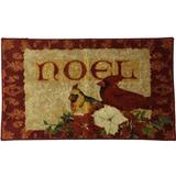 """Mohawk Red Cardinal Accent Rug, Noel Christmas Mat with Non-Skid Back 20"""" by 34"""""""