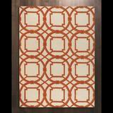 Global Views Arabesque Coral Area Rug Wool in Brown/Pink, Size 108.0 W x 0.75 D in   Wayfair 9.91362