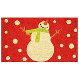 """Home & More 121041729 Holiday Snowman Doormat, 17"""" x 29"""" x 0.60"""", Multicolor"""