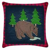 C&F Home Bear Quilted Pillow, 14 by 14-Inch