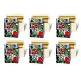 SET OF 6 - Greeting Cards 3D Lenticular Christmas Cards Image with Christmas Ornament, Tree