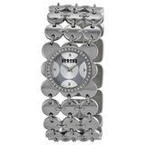 Versus Women's 3C69600000 Paillettes Stainless Steel Silver Dial Crystal Bezel Bracelet Watch