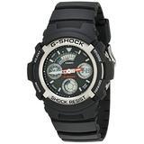 Casio Men's AW590-1AVCF G-Shock Black and Silver-Tone Analog Digital Watch