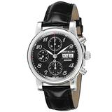 Montblanc Men's Star Stainless Steel Swiss-Automatic Watch with Leather Strap, Black, 20 (Model: 106467)