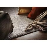 """Kas 1580 Bliss 7' 6"""" by 9' 6"""" Hand-Woven Rug, Ivory Heather"""