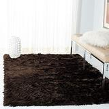 Safavieh Paris Shag Collection SG511 Handmade Silken Glam 2.5-inch Thick Accent Rug, 2' x 3', Chocolate