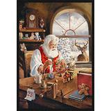 "Milliken Holiday Collection Santa Gift Area Rug, 5'4"" x 7'8"", Workshop"