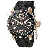 Invicta Men's 1793 Specialty Black Textured Dial Polyurethane Watch