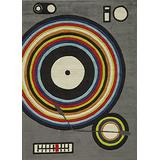 Momeni Rugs Lil' Mo Hipster Collection, Kids Themed Hand Carved & Tufted Area Rug, 5' x 7', Grey