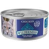 Blue Buffalo Wilderness Wet Cat Food Chicken 24-5.5 oz cans