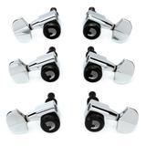 D'Addario Auto-Trim Locking Tuning Machines - 3+3 - Chrome