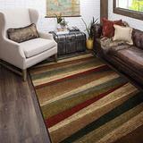 "Mohawk Home Mayan Sunset Sierra Stripe Accent Area Rug, 1'8""x2'10"", Tan"