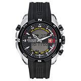 Swiss Military Hanowa Men's Highlander 06-4174-04-007-07 Black Plastic Quartz Watch with Black Dial